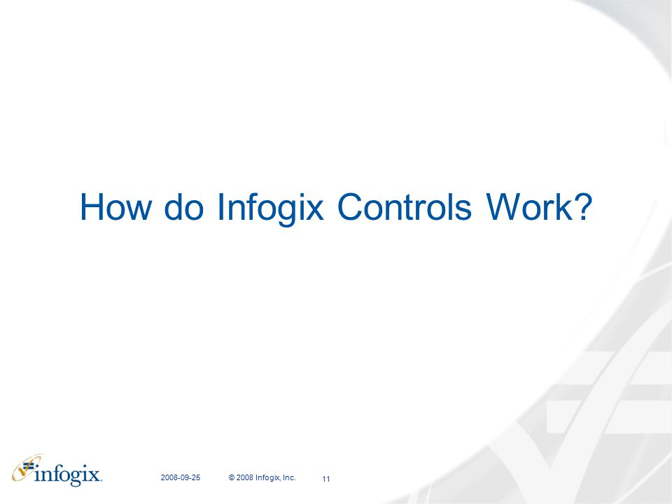 How do Infogix Controls Work