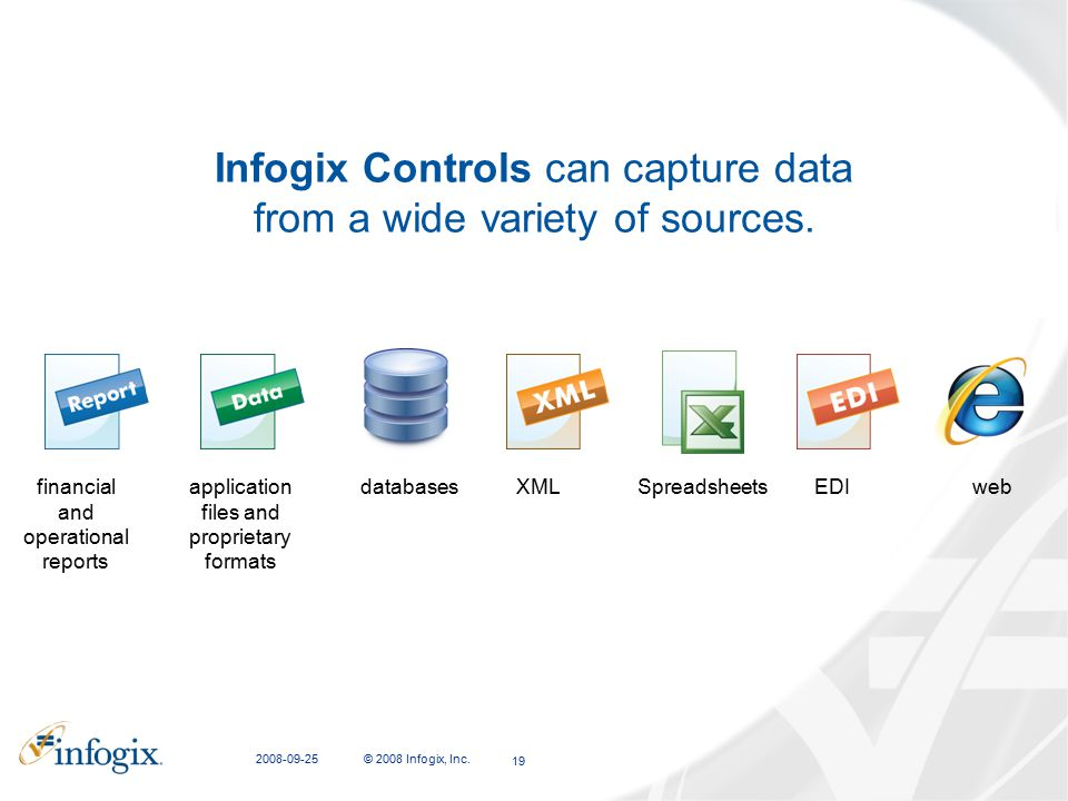 Infogix Controls can capture data from a wide variety of sources.