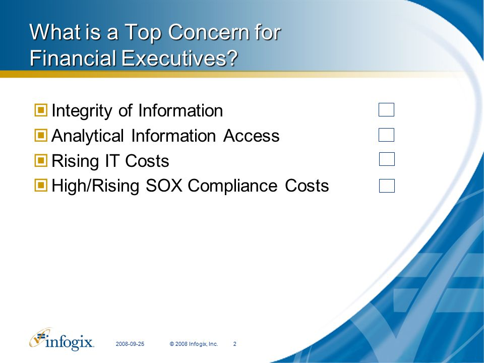 What is a Top Concern for Financial Executives