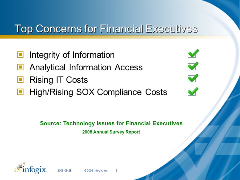 Top Concerns for Financial Executives