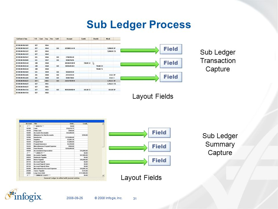 Sub Ledger Process Sub Ledger Transaction Capture Layout Fields