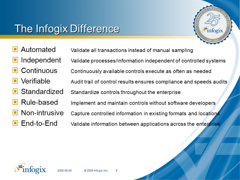 The Infogix Difference