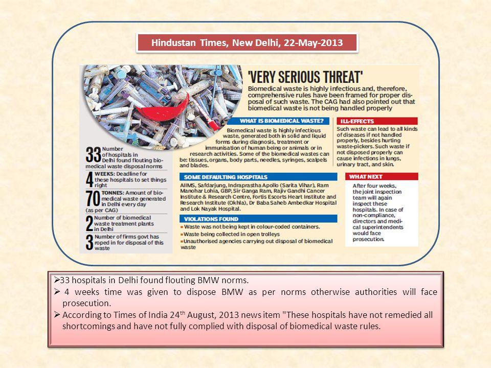 Hindustan Times, New Delhi, 22-May-2013