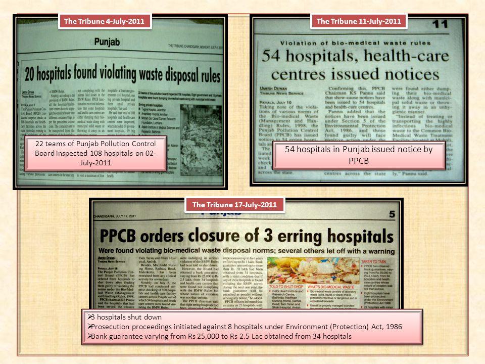 54 hospitals in Punjab issued notice by PPCB