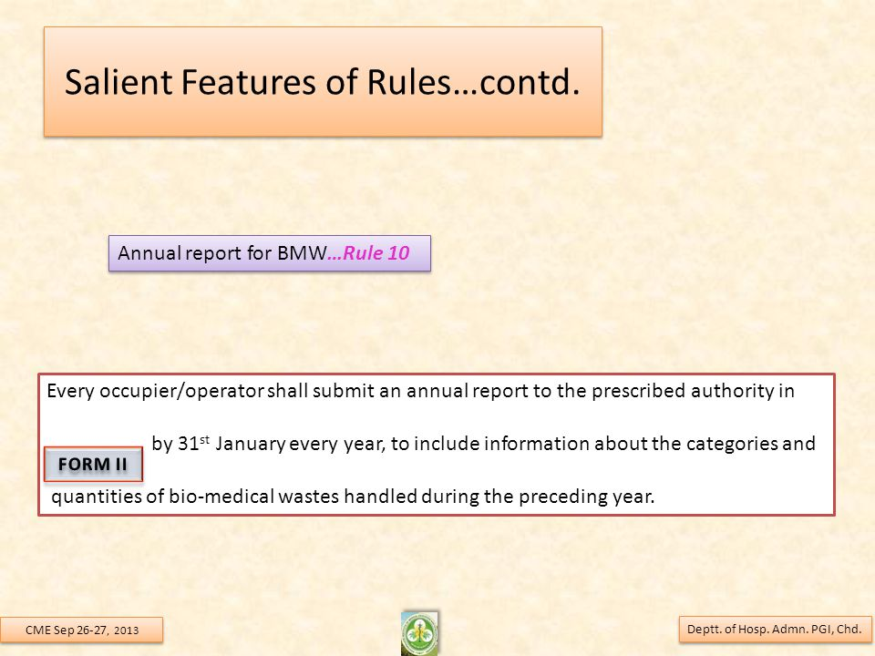 Salient Features of Rules…contd.