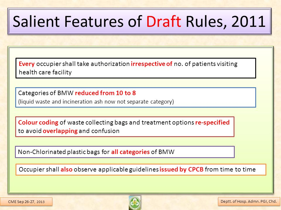 Salient Features of Draft Rules, 2011