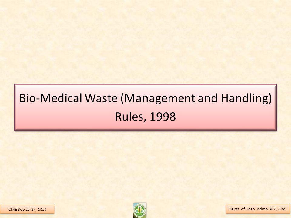 Bio-Medical Waste (Management and Handling) Rules, 1998
