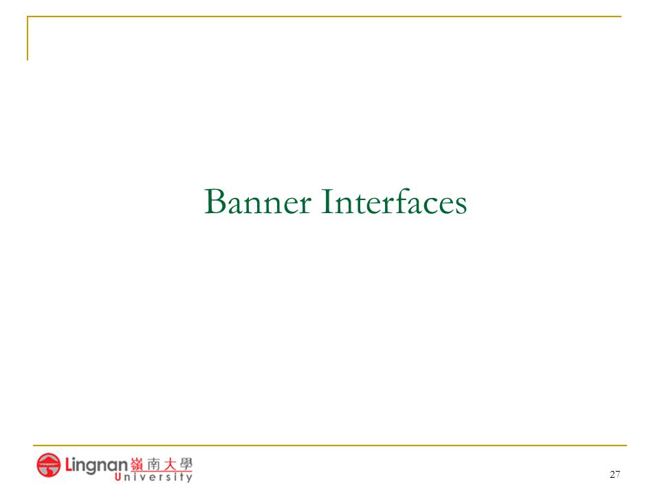 Banner Interfaces