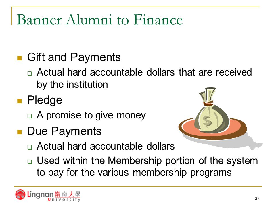 Banner Alumni to Finance