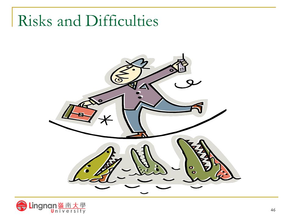 Risks and Difficulties