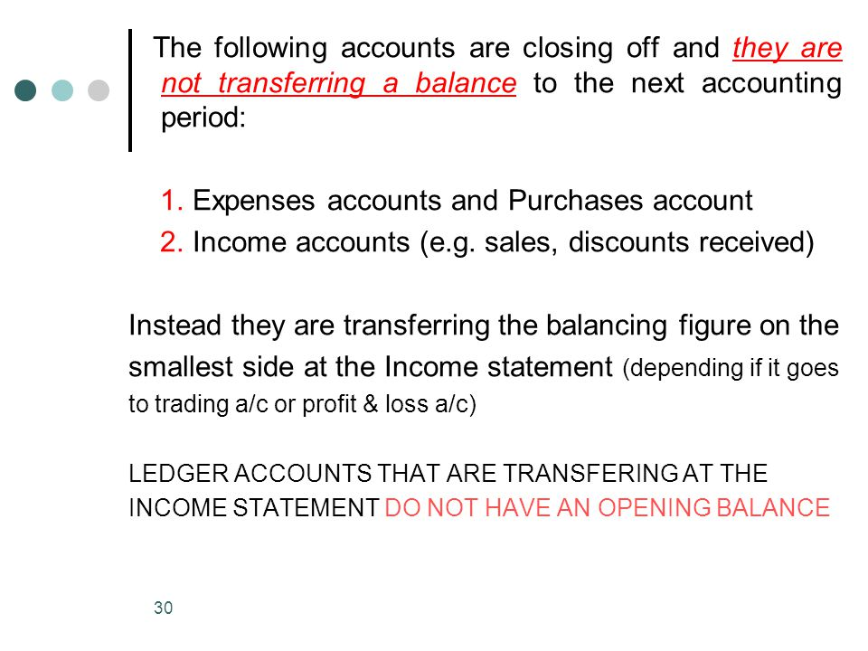 1. Expenses accounts and Purchases account