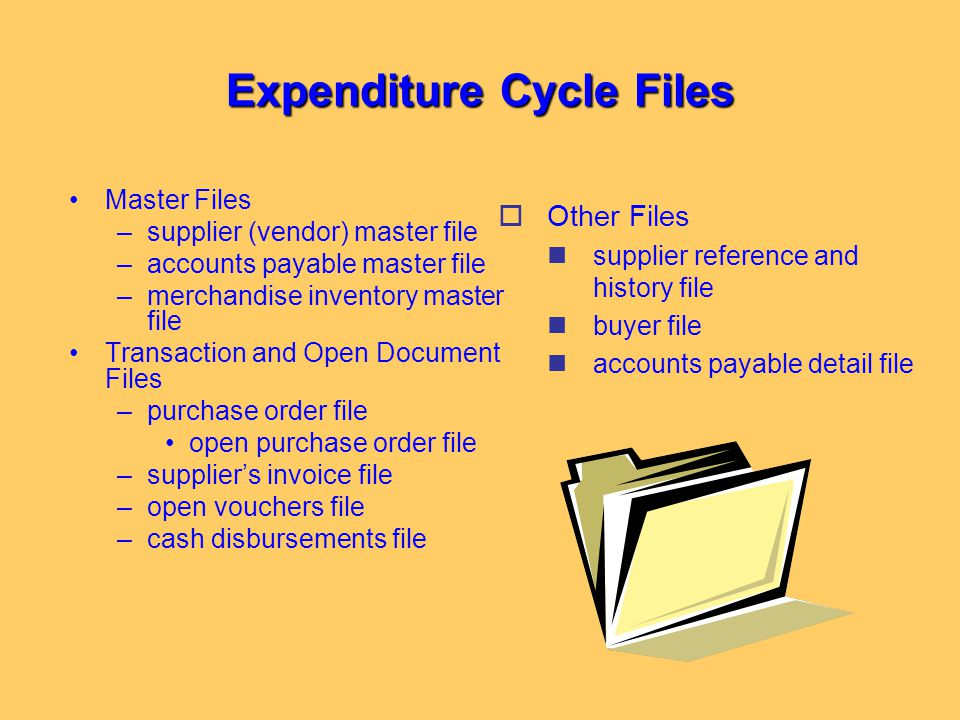 Expenditure Cycle Files