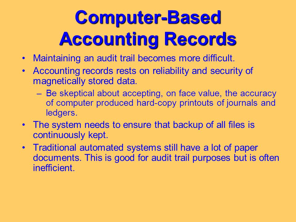 Computer-Based Accounting Records