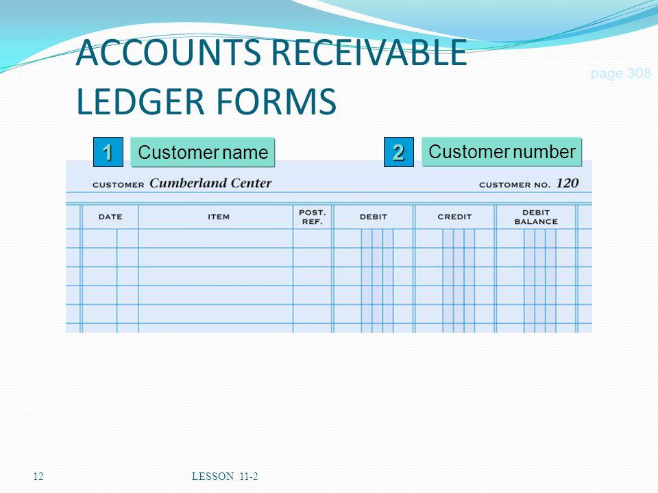 ACCOUNTS RECEIVABLE LEDGER FORMS