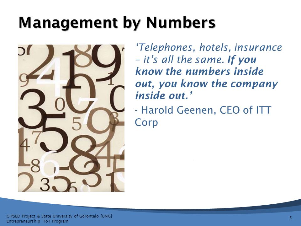 Management by Numbers