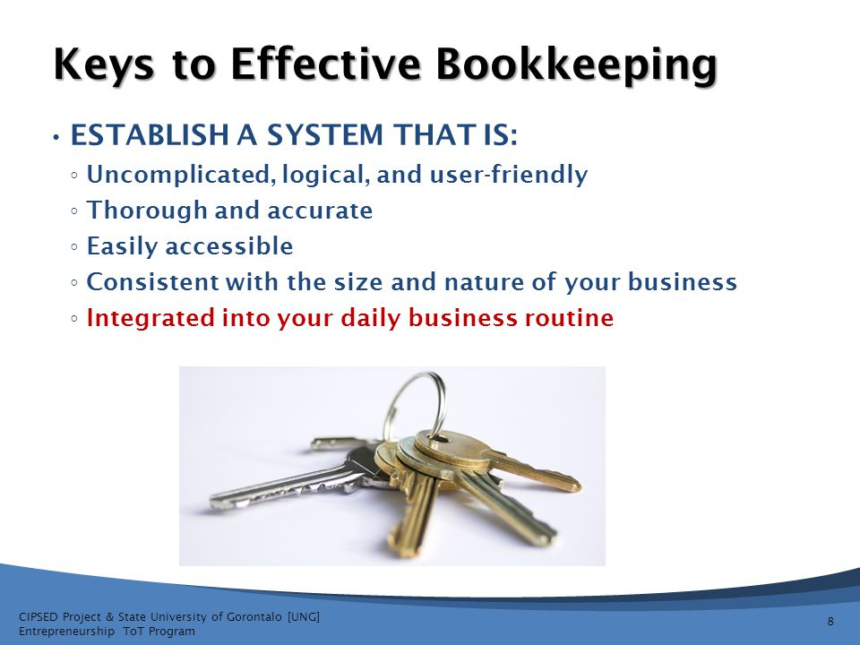 Keys to Effective Bookkeeping