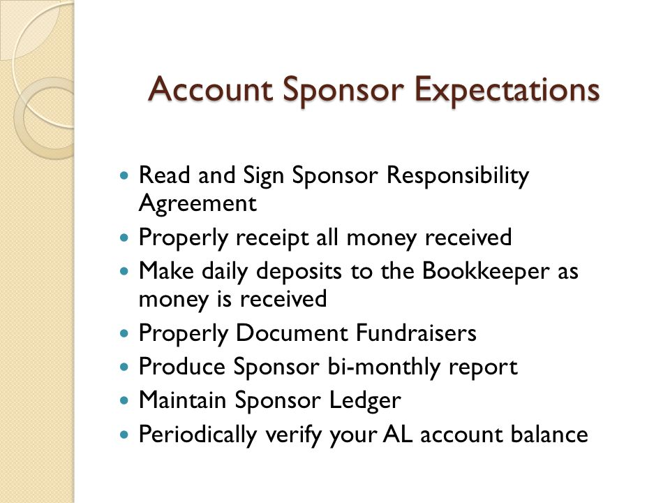 Account Sponsor Expectations