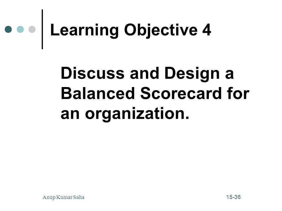 Discuss and Design a Balanced Scorecard for an organization.