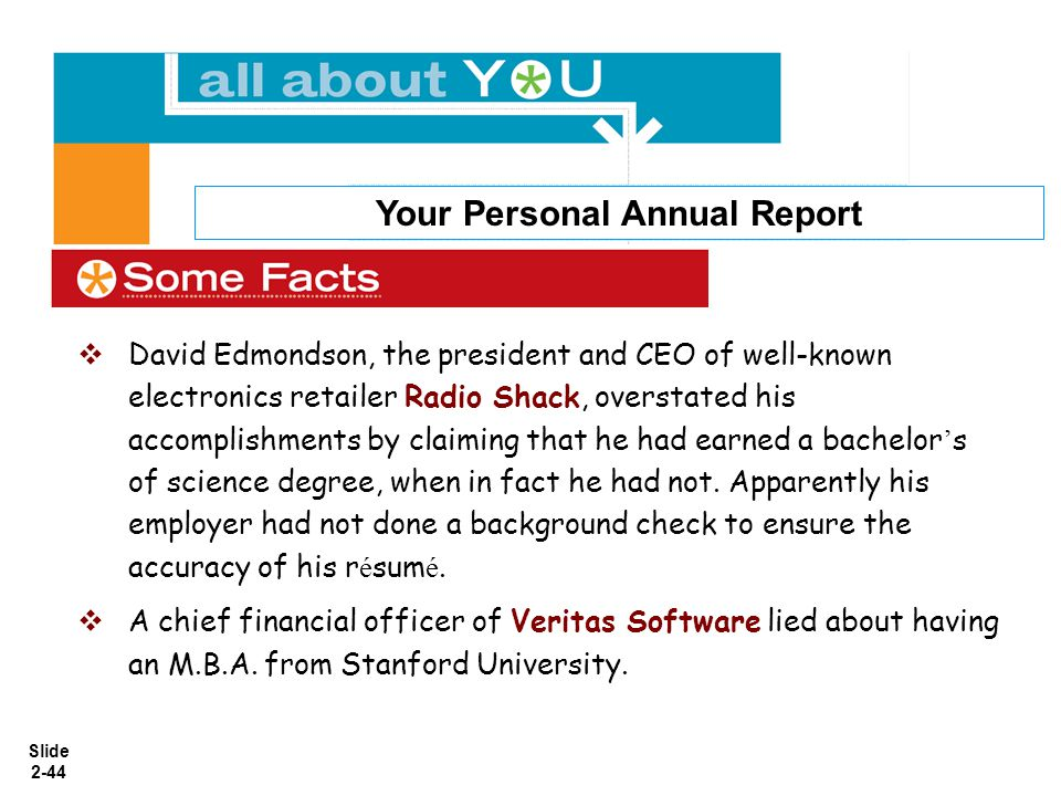 Your Personal Annual Report
