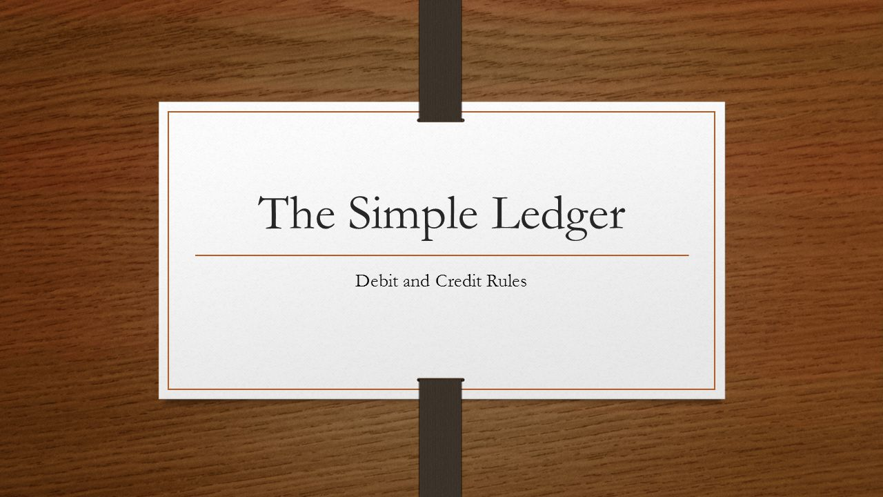 The Simple Ledger Debit and Credit Rules