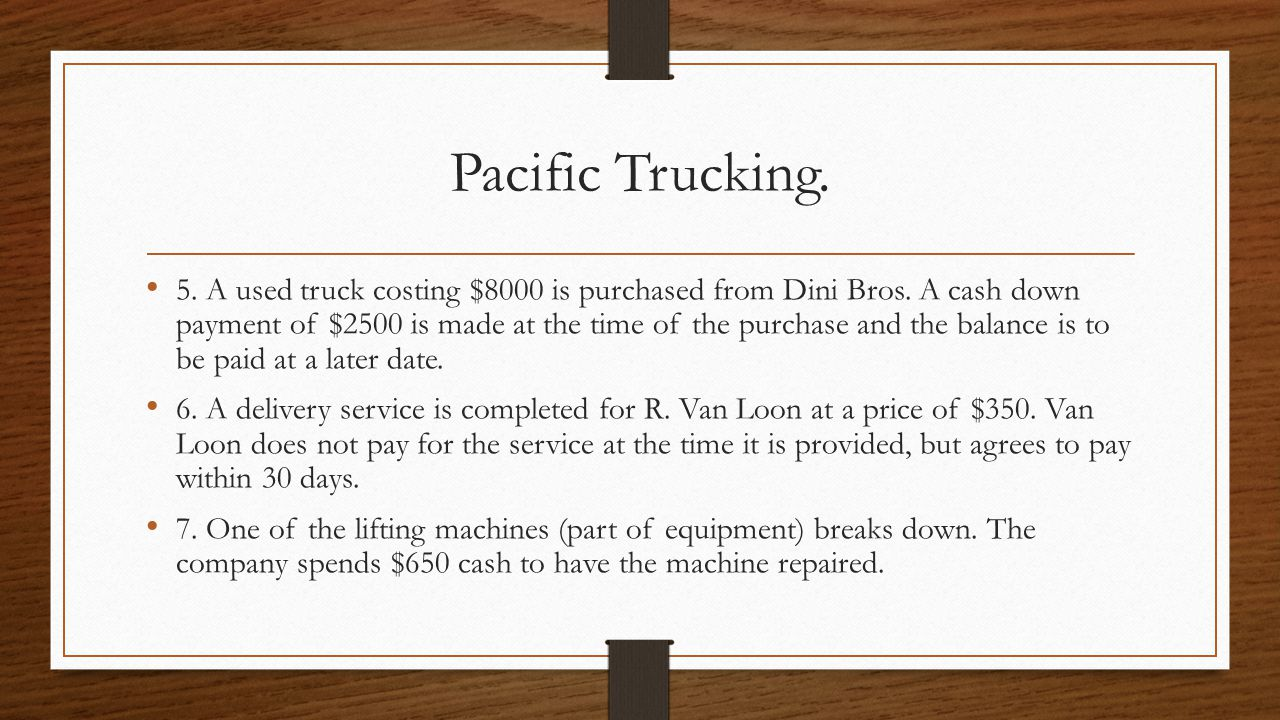 Pacific Trucking.