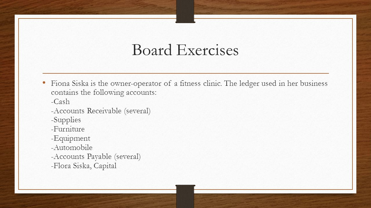 Board Exercises
