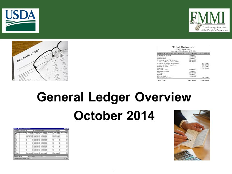 General Ledger Overview October 2014