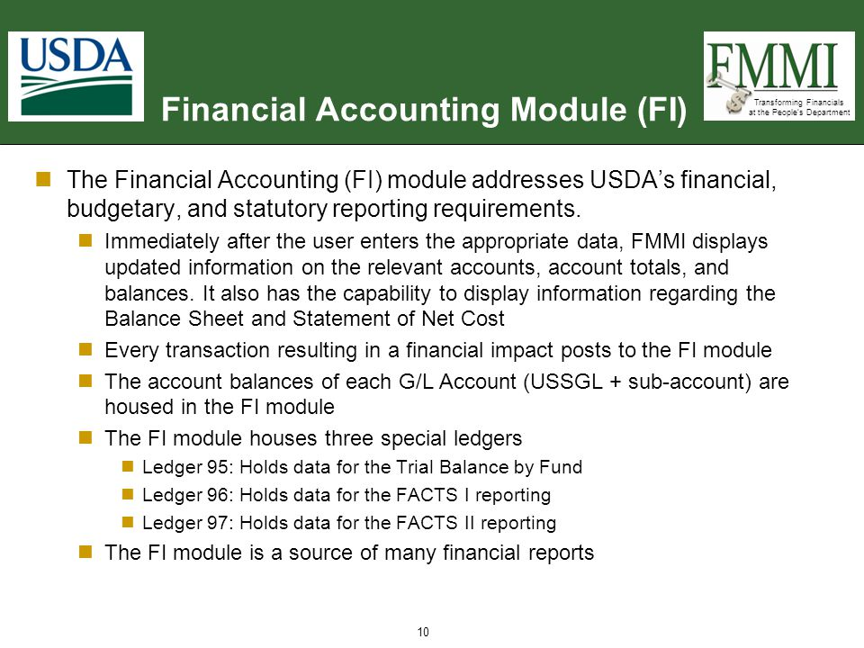 Financial Accounting Module (FI)