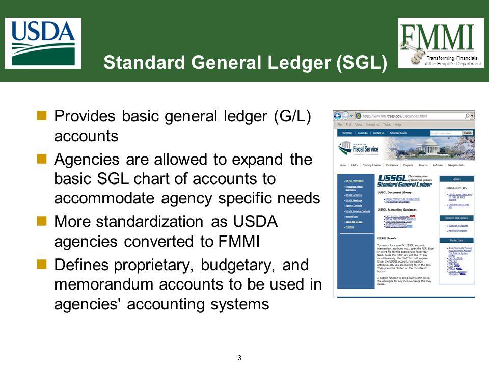Standard General Ledger (SGL)