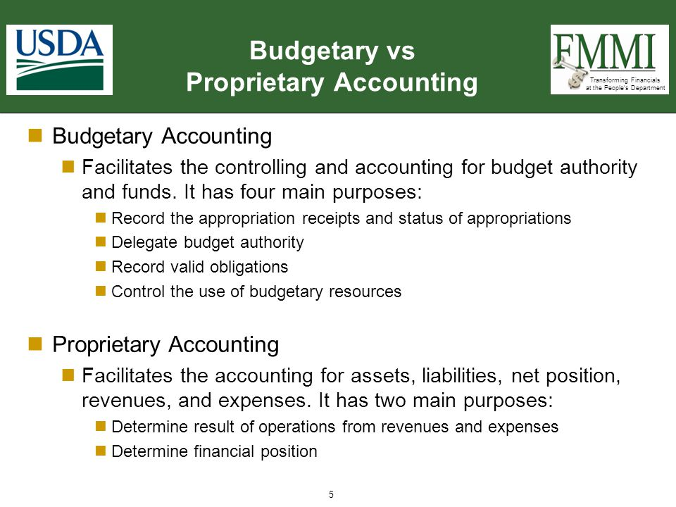 Budgetary vs Proprietary Accounting