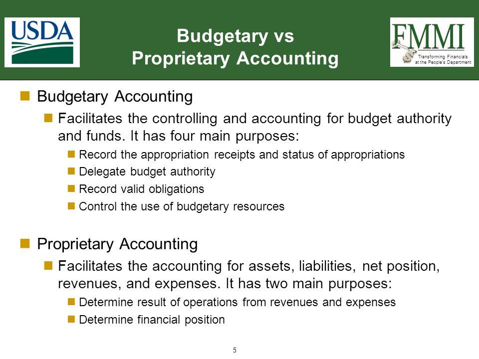Budgetary vs Proprietary Accounting