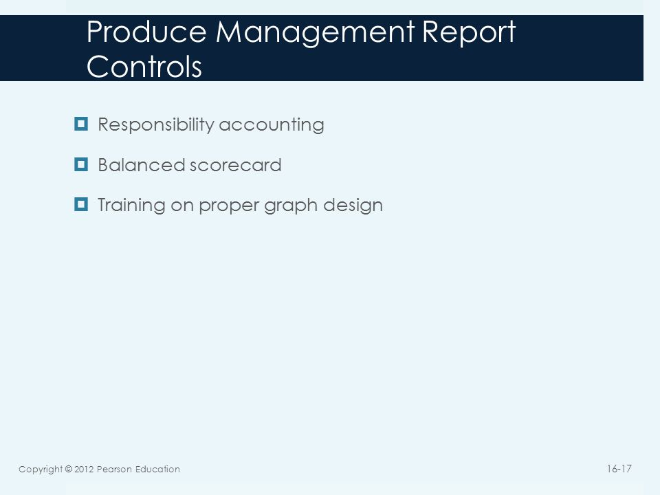 Produce Management Report Controls