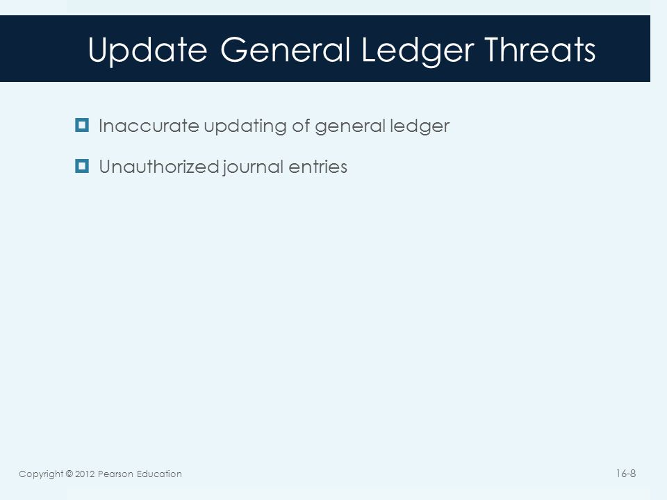 Update General Ledger Threats