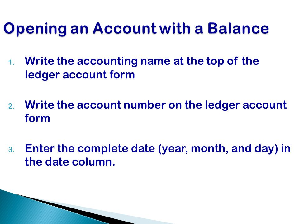 Opening an Account with a Balance
