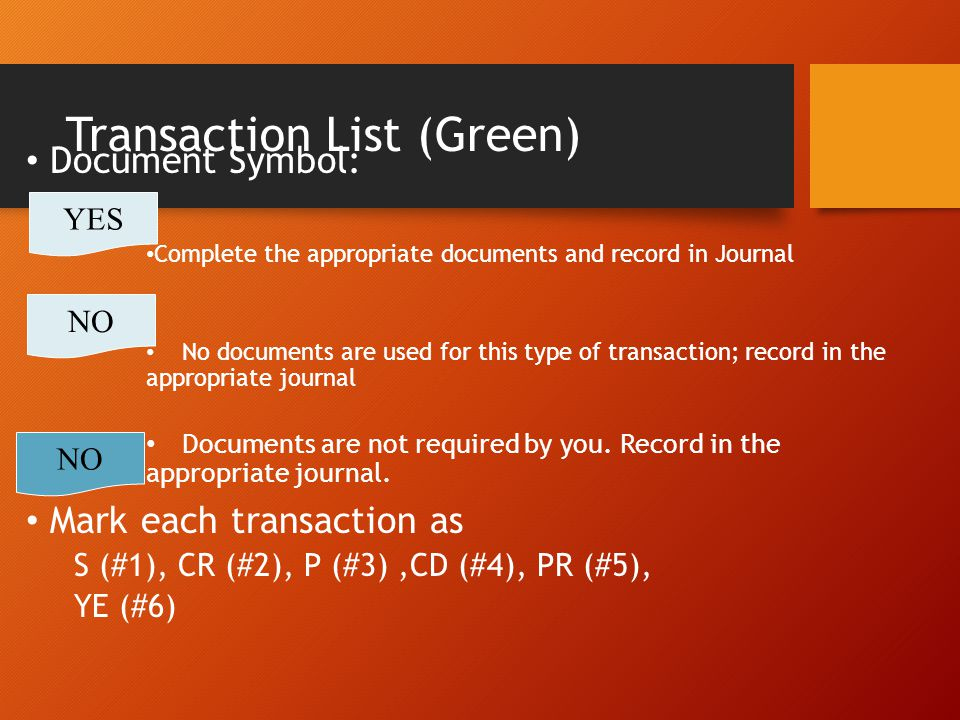 Transaction List (Green)
