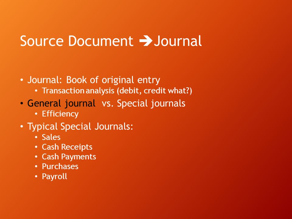 Source Document Journal
