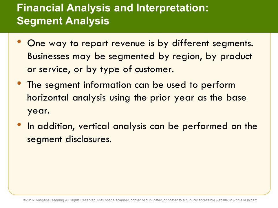 Financial Analysis and Interpretation: Segment Analysis