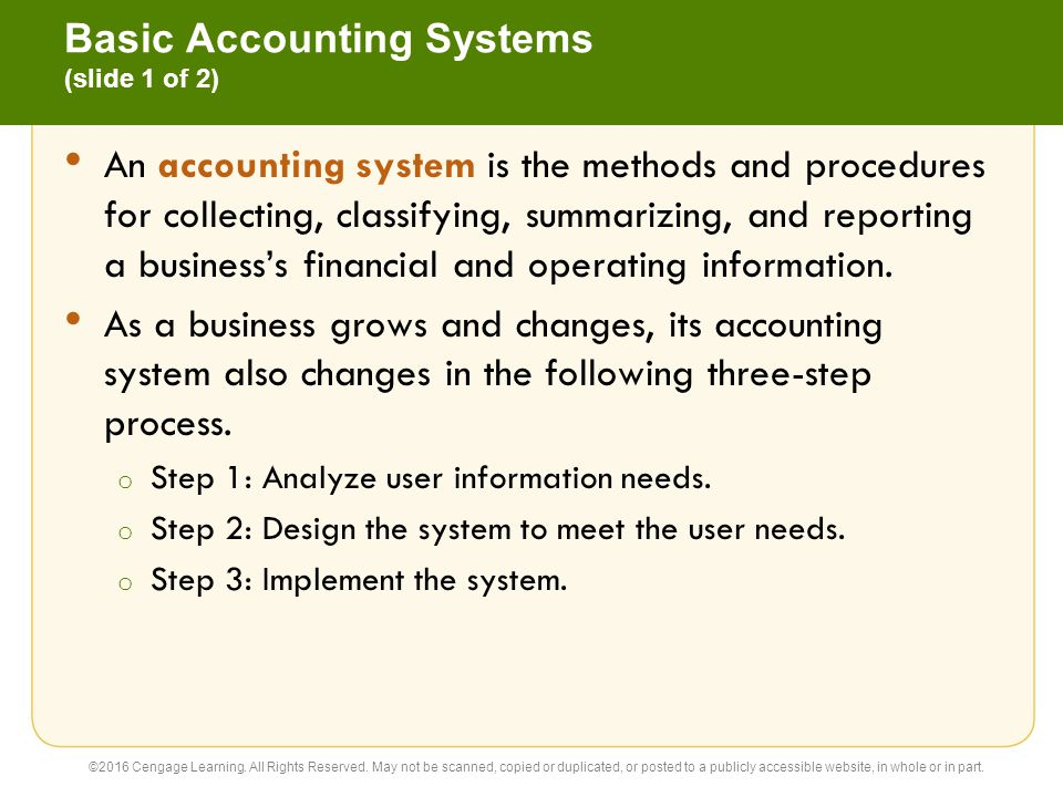 Basic Accounting Systems (slide 1 of 2)