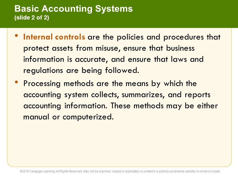 Basic Accounting Systems (slide 2 of 2)