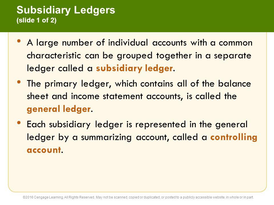 Subsidiary Ledgers (slide 1 of 2)