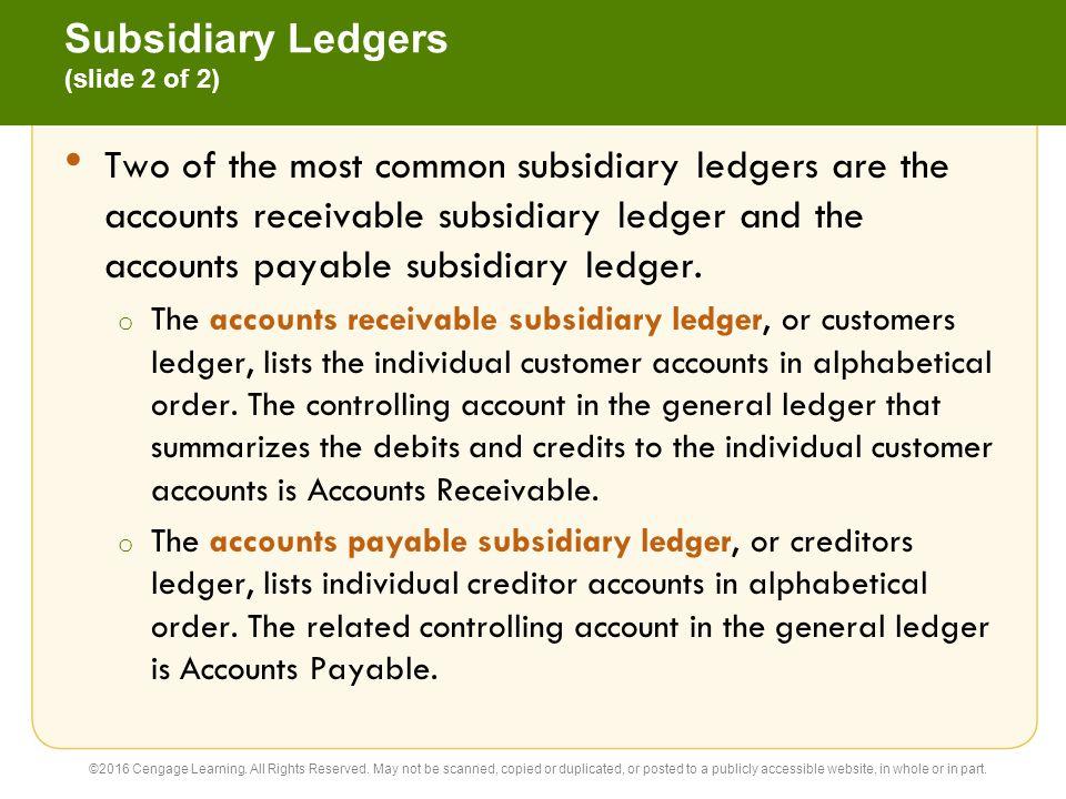 Subsidiary Ledgers (slide 2 of 2)