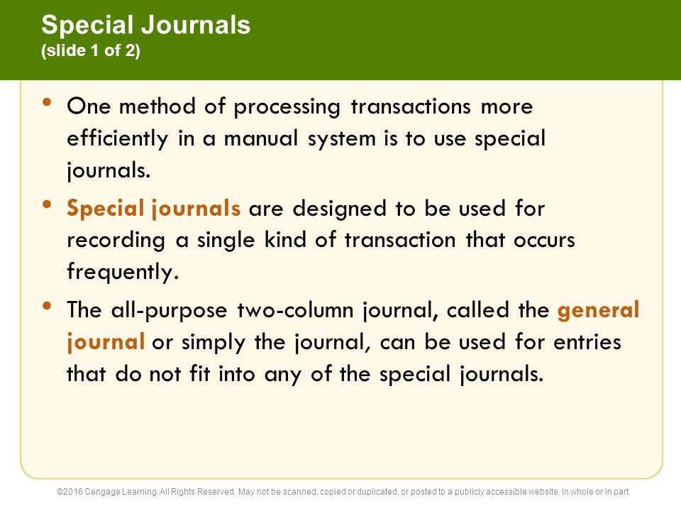 Special Journals (slide 1 of 2)