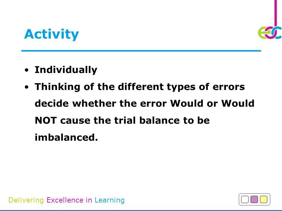 Activity Individually