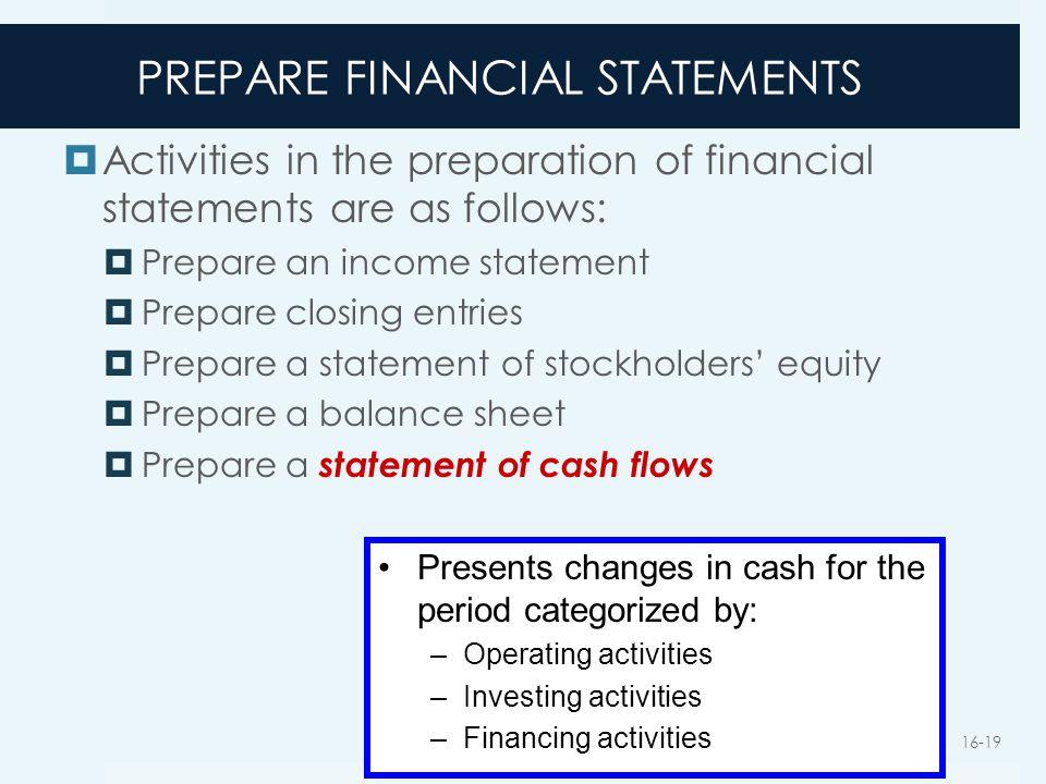 PREPARE FINANCIAL STATEMENTS