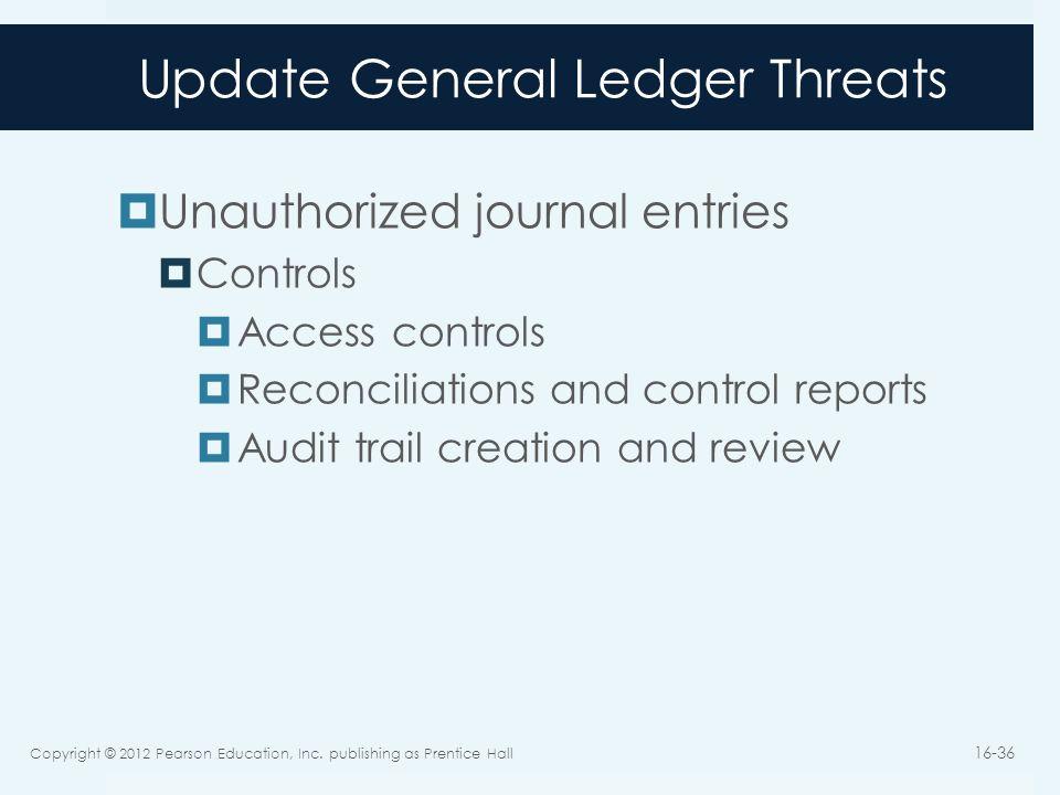 Update General Ledger Threats