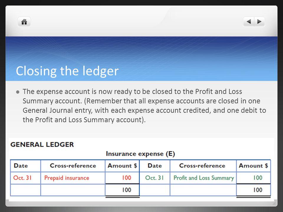 Closing the ledger