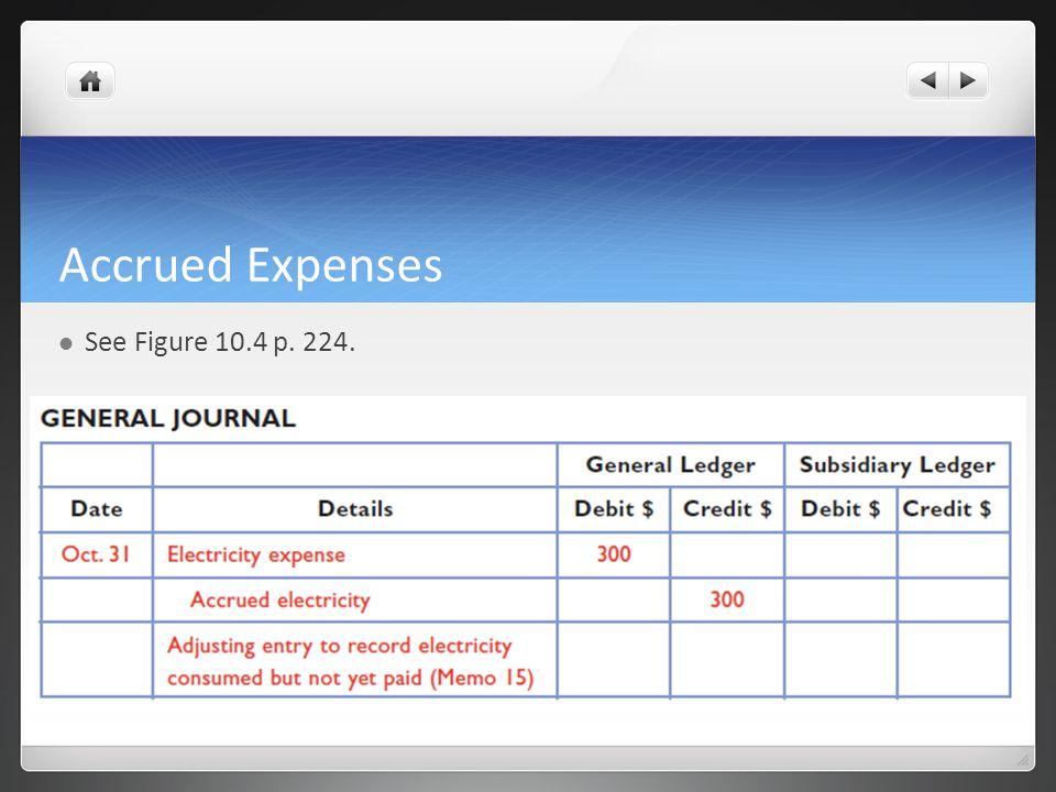 Accrued Expenses See Figure 10.4 p. 224.