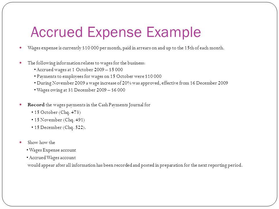 Accrued Expense Example