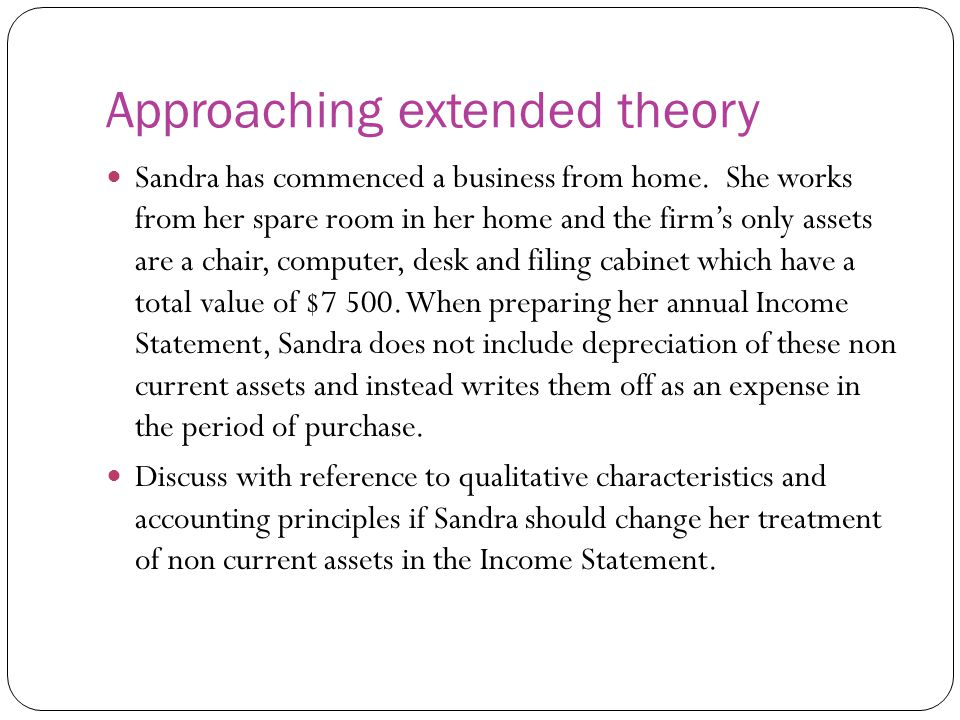 Approaching extended theory
