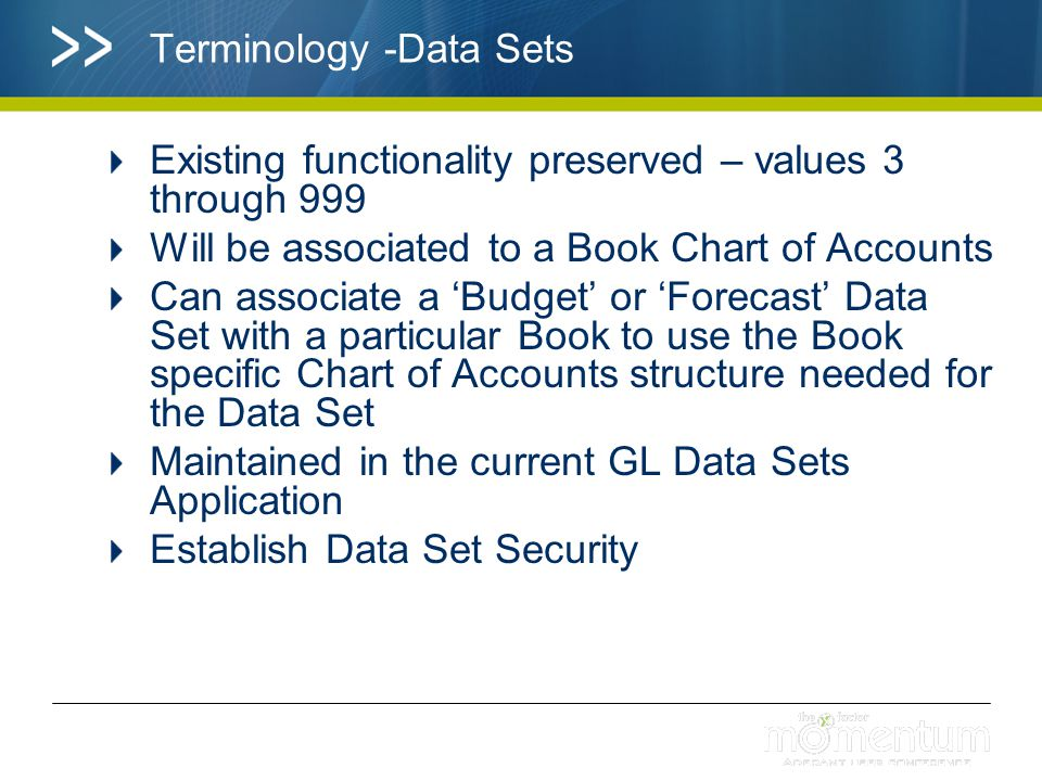 Terminology -Data Sets